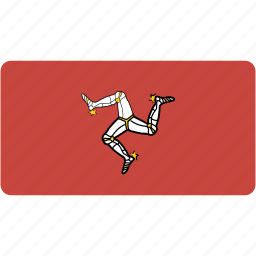 country, flag, flags, isle, man, national, of, rectangle, rectangular, wolrd icon