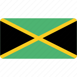 country, flag, flags, jamaica, national, rectangle, rectangular, world icon