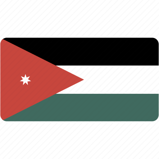 country, flag, flags, jordan, national, rectangle, rectangular, world icon