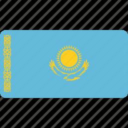 flag, flags, kazakhstan, national, rectangle, rectangular, world icon