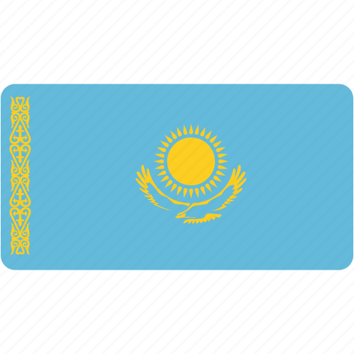 flag, flags, kazakhstan, national, rectangle, rectangular, world icon