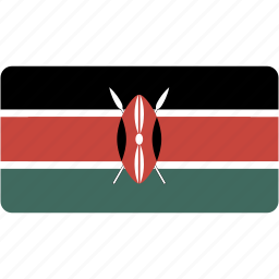 country, flag, flags, kenya, national, rectangle, rectangular, world icon