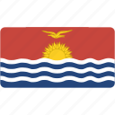 country, flag, flags, kiribati, national, rectangle, rectangular, world icon