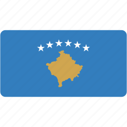 country, flag, flags, kosovo, national, rectangle, rectangular, world icon