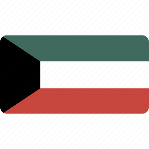 country, flag, flags, kuwait, national, rectangle, rectangular, world icon
