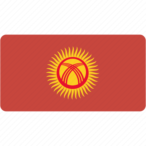 country, flag, flags, kyrgyzstan, national, rectangle, rectangular, world icon