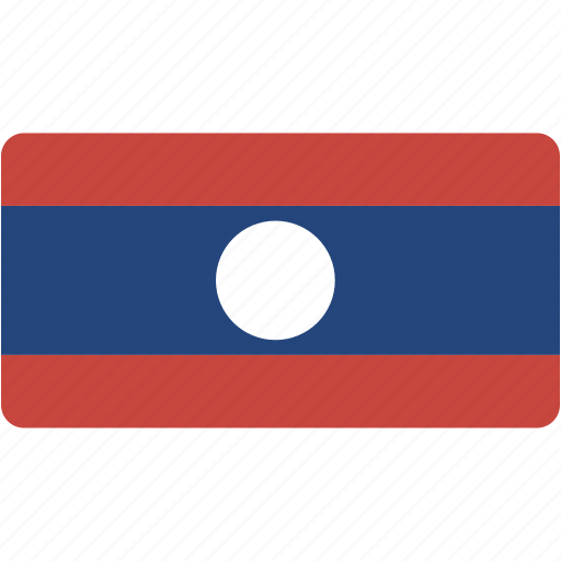 country, flag, flags, laos, national, rectangular, world icon