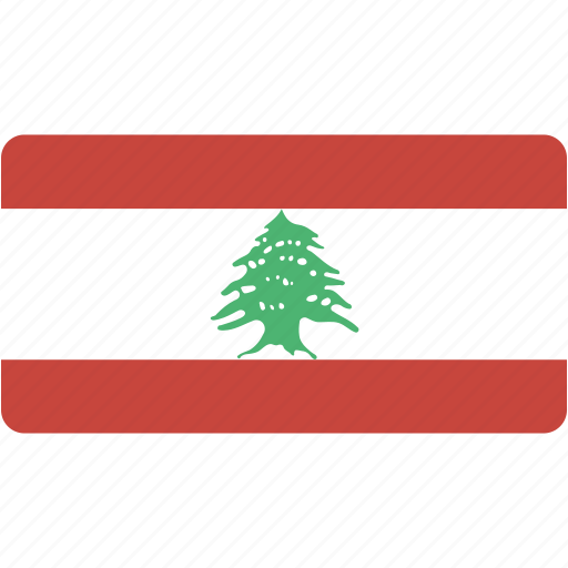 country, flag, lebanon, national, rectangle, rectangular, world icon