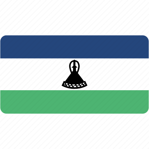 country, flag, flags, lesotho, national, rectangle, rectangular, world icon