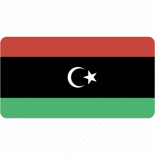 country, flag, flags, libya, national, rectangle, rectangular, world icon