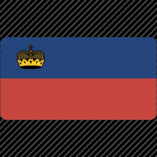 country, flag, flags, liechtenstein, national, rectangle, rectangular, world icon