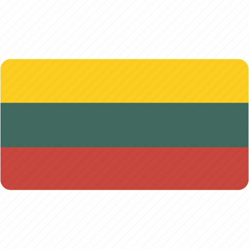 country, flag, flags, lithuania, national, rectangle, rectangular, world icon