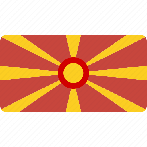 country, flag, flags, macedonia, national, rectangular, world icon