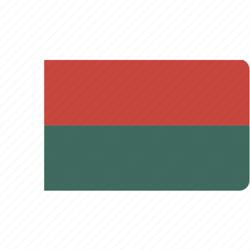 country, flag, flags, madagascar, national, rectangle, rectangular, world icon