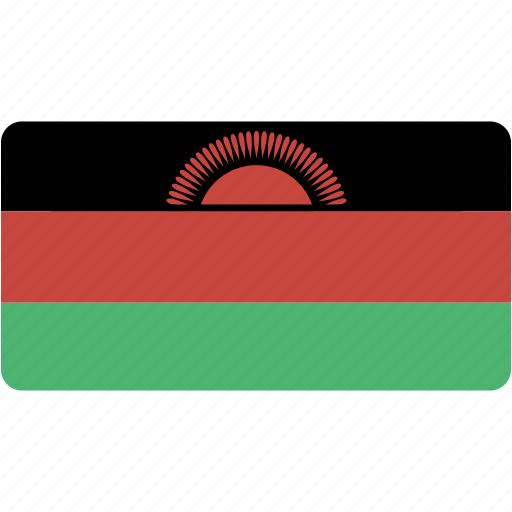 country, flag, flags, malawi, national, rectangle, rectangular, world icon