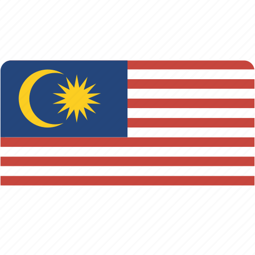 country, flag, flags, malaysia, national, rectangle, rectangular, world icon
