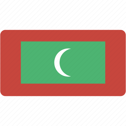 country, flag, flags, maldives, national, rectangle, rectangular, world icon