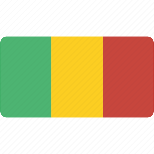 country, flag, flags, mali, national, rectangle, rectangular, world icon