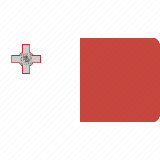 country, flag, flags, malta, national, rectangle, rectangular, world icon