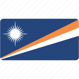 country, flag, flags, islands, marshall, national, rectangle, rectangular, world icon