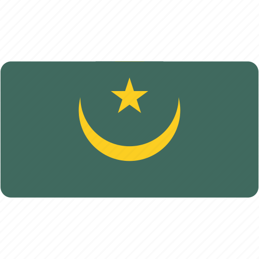 country, flag, flags, mauritania, national, rectangle, rectangular, world icon