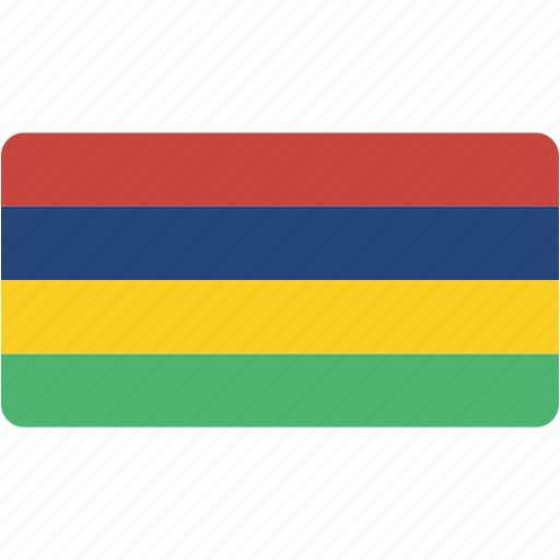 country, flag, flags, mauritius, national, rectangle, rectangular, world icon