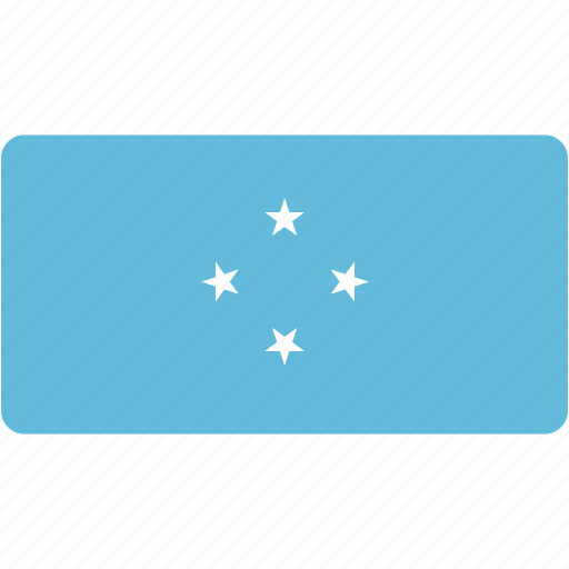 country, flag, flags, micronesia, national, rectangle, rectangular, world icon