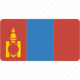 country, flag, flags, mongolia, national, rectangle, rectangular, world icon