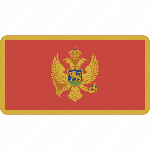 country, flag, flags, montenegro, national, rectangle, rectangular, world icon