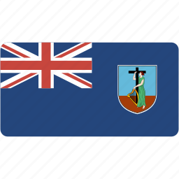 country, flag, flags, montserrat, national, rectangle, rectangular, world icon