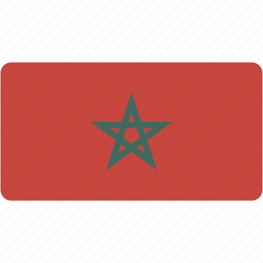 country, flag, flags, morocco, national, rectangle, rectangular, world icon