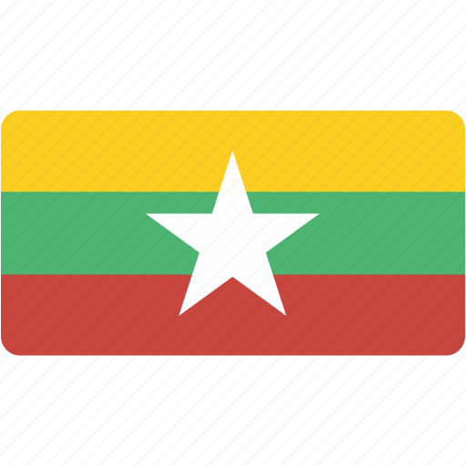 country, flag, flags, myanmar, national, rectangle, rectangular, world icon