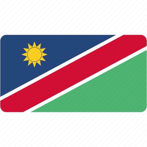 country, flag, flags, namibia, national, rectangle, rectangular, world icon