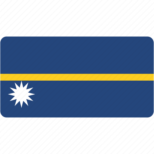 country, flag, flags, national, nauru, rectangle, rectangular, world icon