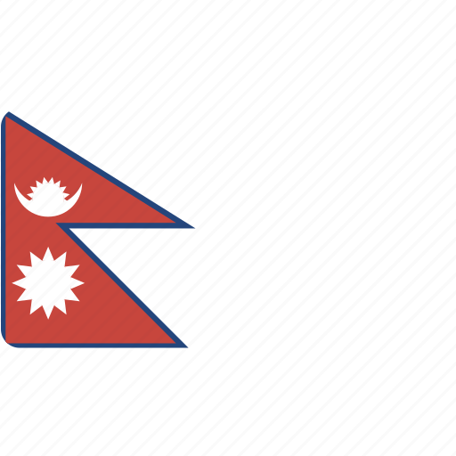 country, flag, flags, national, nepal, rectangular, world icon