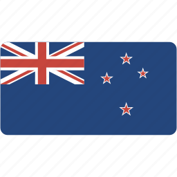 country, flag, flags, national, new, rectangle, rectangular, world, zealand icon