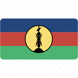 caledonia, country, flag, flags, national, new, rectangle, rectangular, world icon