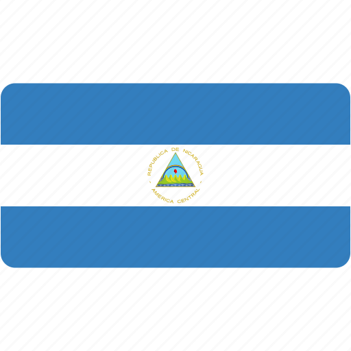 country, flag, flags, national, nicaragua, rectangle, rectangular, world icon