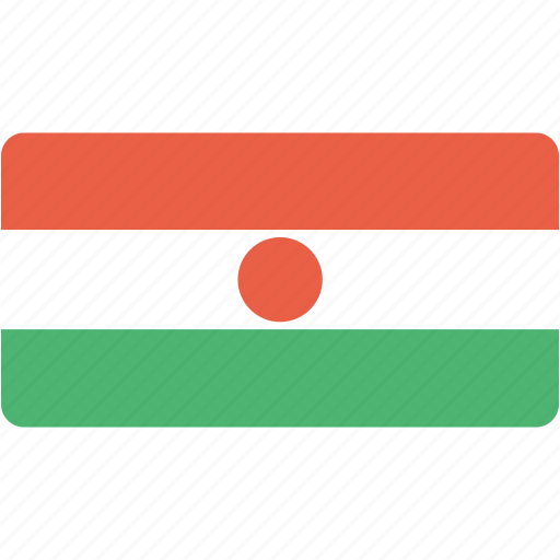 country, flag, flags, national, niger, rectangle, rectangular, world icon