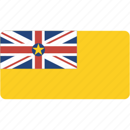 country, flag, flags, national, niue, rectangle, rectangular, world icon