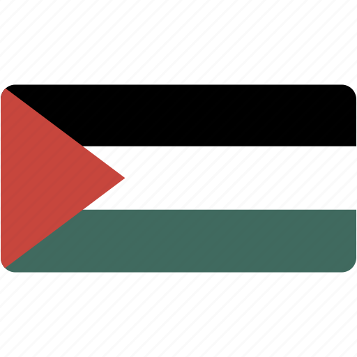 country, flag, flags, national, palestinian, rectangle, rectangular, territory, world icon