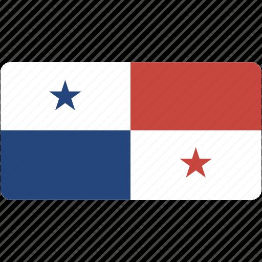 country, flag, flags, national, panama, rectangle, rectangular, world icon