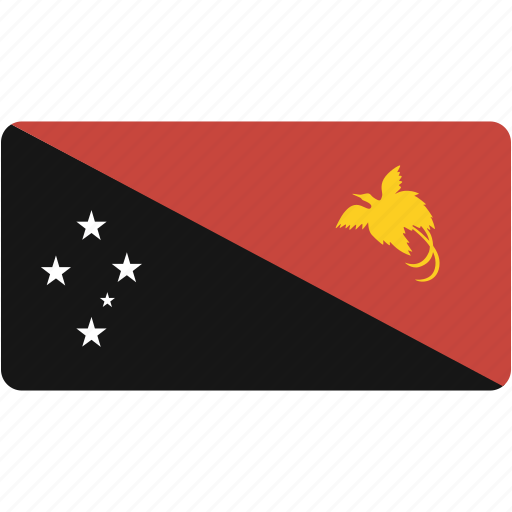 country, flag, flags, guinea, national, new, papua, rectangle, rectangular, world icon