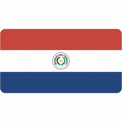 country, flag, flags, national, paraguay, rectangle, rectangular, world icon