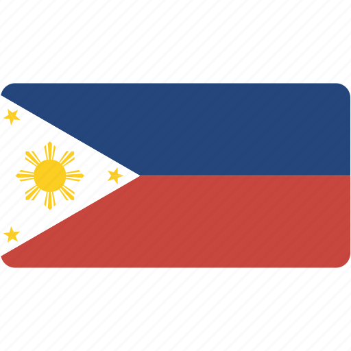 country, flag, flags, national, philippines, rectangle, rectangular, world icon