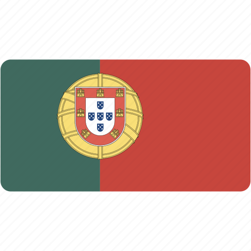 country, flag, flags, national, portugal, rectangle, rectangular, world icon