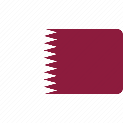 country, flag, flags, national, qatar, rectangular, world icon