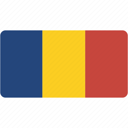 country, flag, flags, national, rectangle, rectangular, romania, world icon
