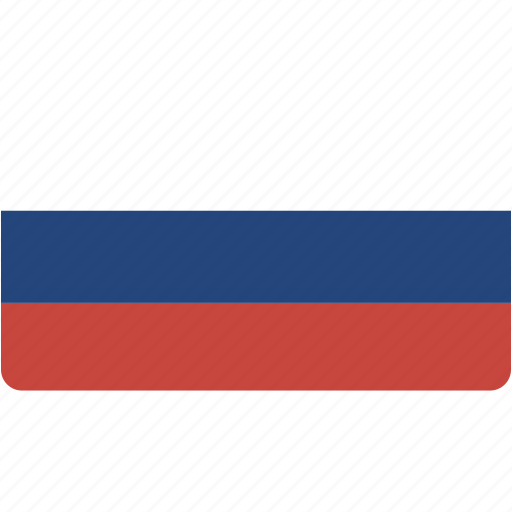 country, flag, flags, national, rectangle, rectangular, russia, world icon