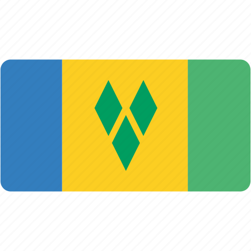 and, country, flag, flags, grenadines, national, rectangle, rectangular, saint, the, vincent icon